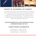 Dance Auditions Fouette Academy of Dance